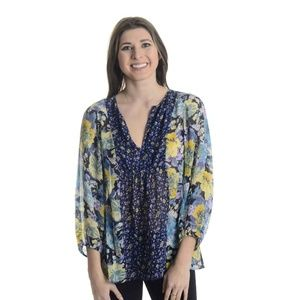 NEW Joie Thistle Floral Print Silk Blouse